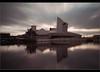 Speed of light...... (Digital Diary........) Tags: longexposure sky manchester movement salfordquays le imperialwarmuseum iwm weldingglass