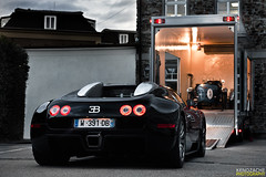 Rare vs Rarer (Keno Zache) Tags: new classic canon photography eos hp power performance automotive ps exotic sound type 164 trailer 35 bugatti luxury combo 1001 veyron sportcar keno bensberg 400d zache transpoerter