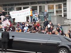 The 99% Protest R-money's Bellevue Fundraiser (Redbeard Math Pirate) Tags: protest tomcruise bellevue presidentialelection mittromney meydenbauercenter the99 corporatepersonhood rmoney wearethe99 ninetyninepercent