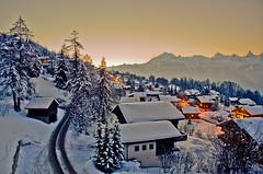 Nendaz Switzerland (lucien_muller) Tags: sunset mountain snow sunrise schweiz switzerland suisse dusk swiss crpuscule nendaz