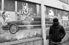 amsterdam streetart (wojofoto) Tags: bw streetart man pasteup amsterdam streetphoto zw raadhuisstraat stadsarchief blach straatfoto wojofoto
