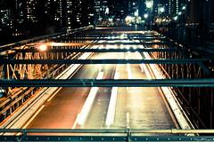 Brooklyn Bridge (miguelmayansv) Tags: city bridge ny cars tarmac brooklyn lights manhattan