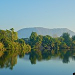 Morning view of the River Kwae from Felix River Kwae Resort, Kanchanaburi, Thailand thumbnail