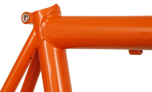 <p>Seat Cluster of Vision 14-Series Road bike in Monarch Orange with Black Decals - 63178.</p>