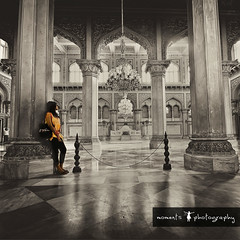 transported to another era.. (PNike (Prashanth Naik..back after ages)) Tags: new old india building architecture vintage hall nikon asia king antique room arches palace chandeliers hyderabad pillars nizam selectivecoloring chowmahalla d7000 pnike