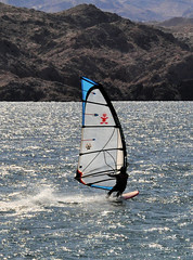 Windsurfing on Lake Mojave (Pat's Pics36) Tags: arizona windsurfing windsurfer bullheadcity lakemojave nikond90 cabinsitepoint nikkor18to200mmvrlens