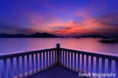 Sunset in Coron, Palawan Philippines (joyoyo) Tags: longexposure sunset bw black nikon philippines timeexposure tokina 124 card pro af technique coron 1224mm  f4 palawan dx atx tokina1224mmf4 ndfilter blackcard 77mm   wideanglephotography  neutraldensityfilter nd64 longexposurephotography t124 timeexposurephotography tokinaatx124afprodx1224mmf4 ultrawidelens  nd106 tokinaatx124prodx joyoyo blackcardtechnique   tokinat124 bwnd106 bwnd64