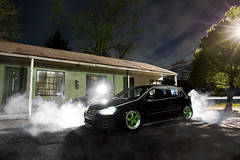 Into the fog (Ronaldo.S) Tags: black fog vw work nikon air motel creepy gti f28 slammed meister alienbees b800 2030mm d700