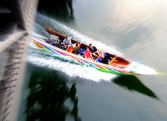 River Kwai speed (Thai pix Wildlife photography,,) Tags: swim thailand boat kanchanaburi riverkwai
