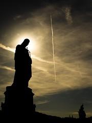 Untitled (J. F. Kr) Tags: bridge silhouette statue joseph czech prague charles
