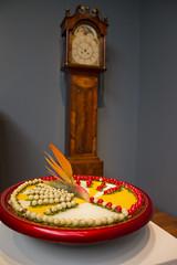 Grandfather clock and sundial (quinn.anya) Tags: flower clock deyoungmuseum sundial artmuseum grandfatherclock bouquetstoart