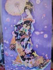 Geisha girl (abisart3012) Tags: art painting acrylic bright geishagirl
