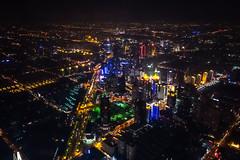 SWFC @ Night - Image 14 (www.bazpics.com) Tags: china city tower glass skyline skyscraper radio tv shanghai centre area pearl tall oriental pudong financial jinmao lujiazui swfc