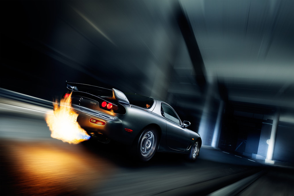 Mazda RX 7 Spirit R Fireball (Extreme Ben) Tags: Street Red Urban