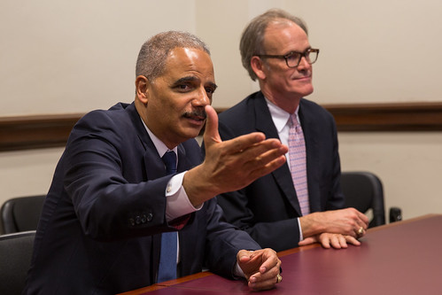 U.S. Attorney General Eric Holder meets by North Charleston, on Flickr