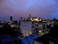 Because when the Night falls... It's Magic (greenie11*) Tags: blue homes windows sky paris france home window night hotel evening abend frankreich europa europe view purple flat nacht hana frankrijk avond soir nuit francie parijs noc vecer evropa pariz greenie11