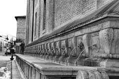 Assisi- (Carla) Tags: world travel urban bw italy travelling water canon blackwhite europe italia planet assisi umbria prospective architercture 60d