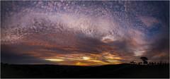 Strath Creek pano (Pwa25) Tags: trees sunset clouds outdoors bush colours country australia victoria farn strathcreek