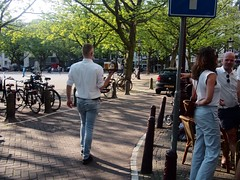 (amsfrank) Tags: summer people amsterdam spring cafe candid sunny prinsengracht marcella marcellas