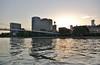 Frankfurt (horschte68) Tags: pentax k100d frankfurt urban life skyscraper 20130727 193918 urbanlife water wasser ufer shore frankfurtammain fluss river reflection reflexion mirror wellen waves wave sunrise sonnenuntergang skyline cityscape citylife mood