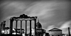roman forum (ale_brando) Tags: longexposure motion rain night clouds temple ruins forum columns foro motionblur d200 foriimperiali romanforum darkeness nikondx niksoftware silverefexpro