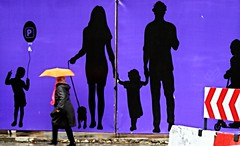 afamilyaffair (gregjack!) Tags: street family people orange paris france colour silhouette umbrella french purple candid streetphotography