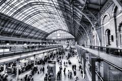 St. Pancras, London (Jim Nix / Nomadic Pursuits) Tags: uk travel england london monochrome architecture photography blackwhite nikon europe eurostar trainstation hdr stpancrasstation tonality nomadicpursuits macphun jimnix