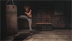 Blowing Steam (MarlyPeapod) Tags: female fighter sl secondlife boxer nomad boxing kickboxing kickboxer argrace pixicat