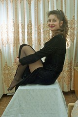 So Pretty (stillphototheater) Tags: smile legs russia 1999 beautifulwoman novosibirsk prettygirl lovelylady xenya stillphototheater