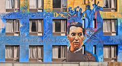 graffitti (poludziber1) Tags: street city nyc travel blue ny newyork building window colorful cityscape graffitti