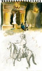 Versailles -interieur (SinusMagnus) Tags: watercolor urbansketchers