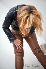 elle242 (Cuir Couple) Tags: leather bondage skirt bdsm master jacket jupe mistress veste leder matre pant pantalon cuero cuir hosen cravache maitresse martinet cuissardes