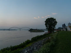 Mississippi River at Dusk (GrillSgt) Tags: us unitedstates memphis tennessee mississippiriver