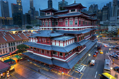 Buddha Tooth Relic Temple (mcartmell) Tags: city colour mike architecture contrast temple singapore chinatown sony hdr singapura photomatix cartmell buddhatoothrelic a6000