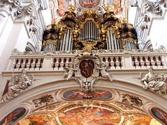 P5280343 (photos-by-sherm) Tags: church st buildings germany spring catholic cathedral roman statues arches organ baroque stephens sanctuary passau