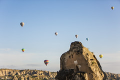eight above (eb78) Tags: turkey landscape middleeast hotairballoon cappadocia anatolia goreme