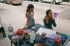 June 3, Silkscreen Workshop (Brooklyn Hi Art Machine) Tags: bham bkhiartmachine brooklyn ektar100 printmaking socialpractice art silkscreen