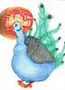 Poppycock (CarabellaSands) Tags: watercolor drawing buddha halo peacock baltimore sands morbidobesity carabella