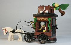 Hold on to your hats (DARKspawn) Tags: castle classic wagon lego medieval cart merchant forestman darkspawn