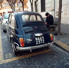 (Fiat 500) (Robbie McIntosh) Tags: 120 6x6 film car mediumformat square classiccar automobile fiat kodak hasselblad negative 500 fiat500 ektar sleepingman pellicola hasselblad500cm mittelformat moyenformat filmisnotdead medioformato uomoaddormentato kodakektar100 carlzeissdistagon50mmf4ct