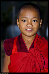Little Red Lama (aleemsm) Tags: boy red smile evening bhutan monastery cotton lama cloth