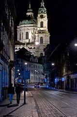 Prague nightwalk プラハ散歩 (AkheL) Tags: old city travel blue building church photo nikon europa europe republic czech picture praha note photograph destination historical nikkor bohemia f28 moravia 2470mm
