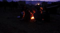 A Dawn in Pushkar Mela (me suprakash) Tags: pushkar rajasthan pushkarmela nikond90 pushkarcattlefair adawninwinter baskingaroundthefire heatingawaythecold