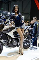 Motosalon 2012 girl (The Adventurous Eye) Tags: woman girl czech fair brno motorcycle hostess 2012 motosalon