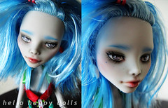 pic2 (Hellohappylisa) Tags: hello cute monster ball happy for high doll ebay sweet sale auction adorable kawaii online bjd custom mattel jointed repaint yelps playline ghoulia