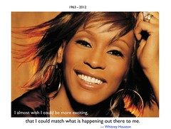 From the beginning, the camera and I were great friends. It loves me, and I love it. --- Whitney Houston