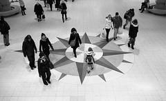 The Compass (hyppoka) Tags: leica people blackandwhite bw film monochrome station analog finland subway helsinki fuji railway rangefinder scan 150 neopan400 rodinal m6 selfdeveloped carlzeiss rautatieasema zmbiogon352t