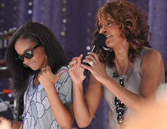 Whitney Houston with daughter  Bobbi Kristina ...