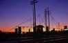 27th Street Railroad Gate Silhouette (esywlkr) Tags: railroad sunset birmingham alabama rr southern passenger railfan 1976 e8 silhouett bham screscent emde8