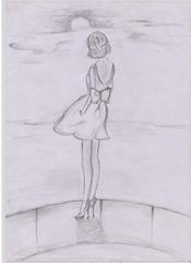 dreamy (Irina Bolohan) Tags: paris france cute beautiful fashion dress drawing chic runaway ira bolohan